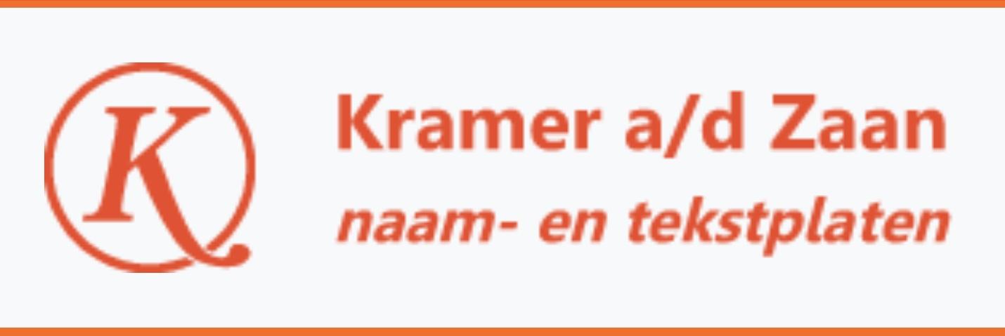 Naamplaatjes Kramer a/d Zaan
